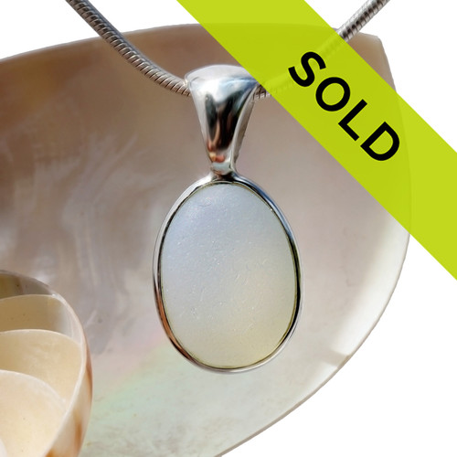 Sorry this Ultra Rare Opalized Sea Glass Pendant Has Been SOLD