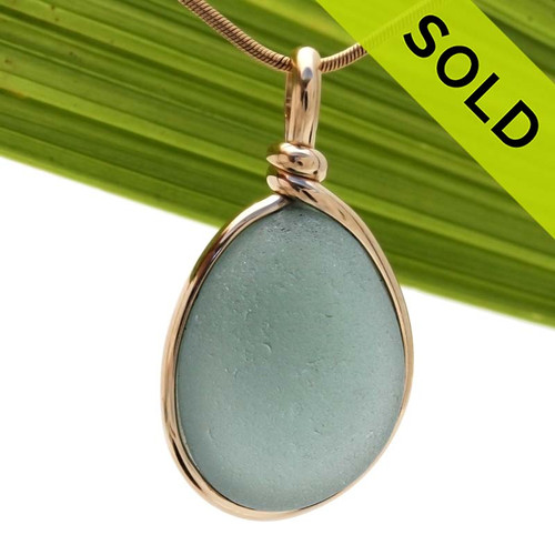 An original By The Sea Jewelry setting that leaves the sea glass piece TOTALLY UNALTERED from the way it was found on the beach! SOLD - Sorry this Rare Sea Glass Pendant is NO LONGER AVAILABLE!