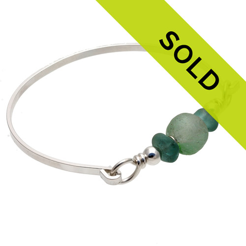 This sea glass bangle bracelet has sold!