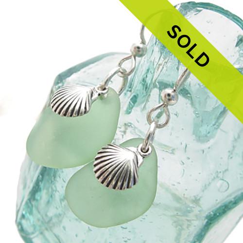 Sea Charmed - Larger Sea Green Sea Glass W/ Shells