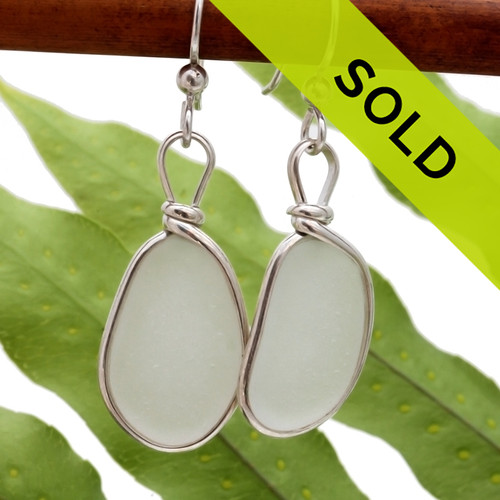 Genuine unaltered sea glass in sterling silver earrings Sorry this sea glass jewelry item has sold