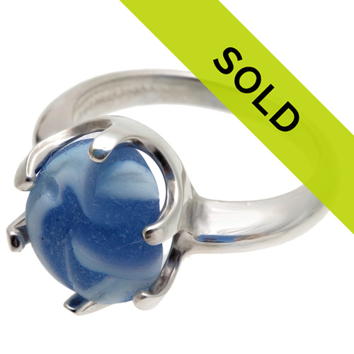 Sorry this sea glass marble ring has sold!
