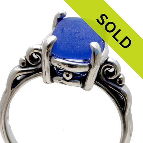 Sorry this blue sea glass ring has sold!