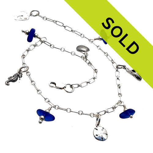 Sorry this sea glass anklet has been sold!