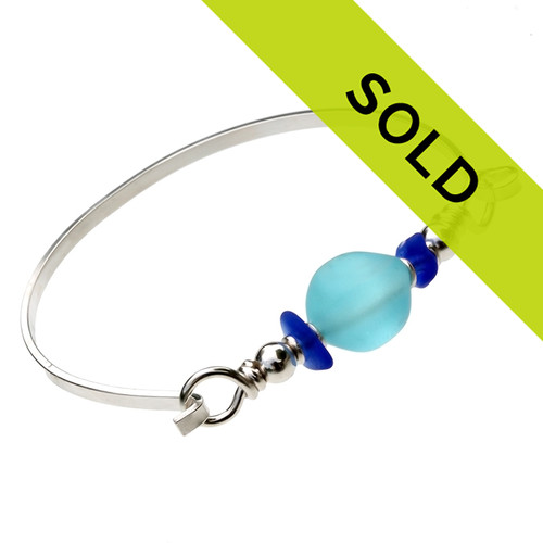 Sorry this sea glass bangle bracelet has been SOLD!