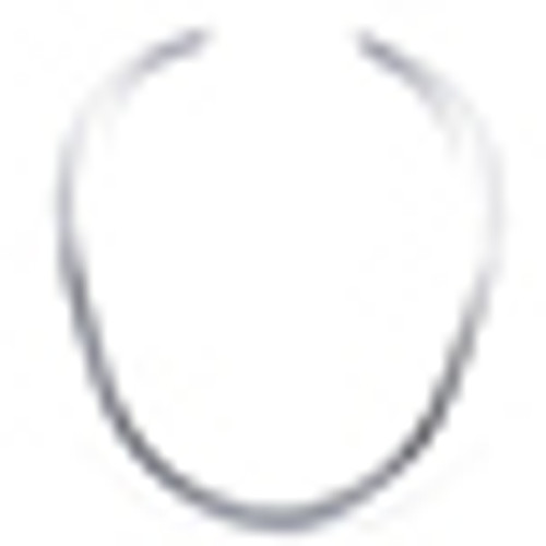 Solid Sterling  Silver Oval Neck Ring