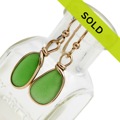Sorry these sea glass earrings are no longer for sale.