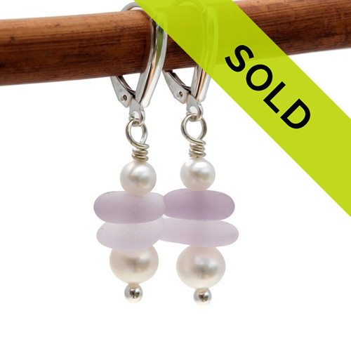 Sorry these sea glass earrings have sold!