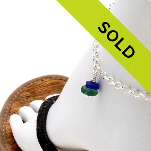 Sorry this sea glass ankle bracelet has been sold!