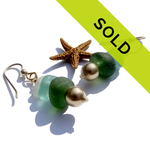 Sorry these Seaham sea glass earrings have been sold!