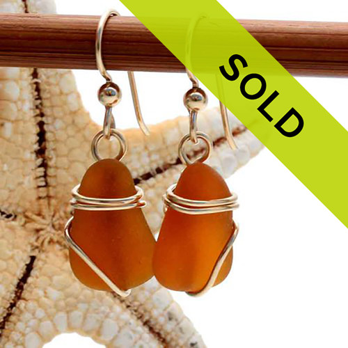 Sorry this pair of sea glass earrings has SOLD!