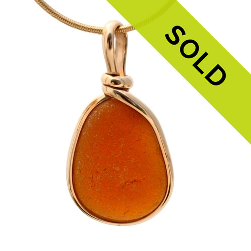 Genuine beach found sea glass with a perfect frosty texture. Sorry this sea glass jewelry piece has sold!