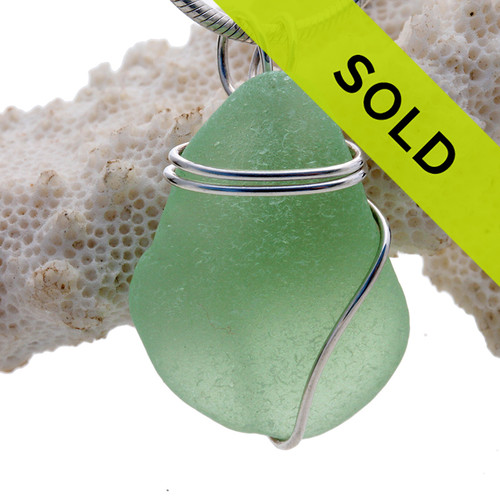 Sorry this sea glass necklace pendant is no longer for sale!