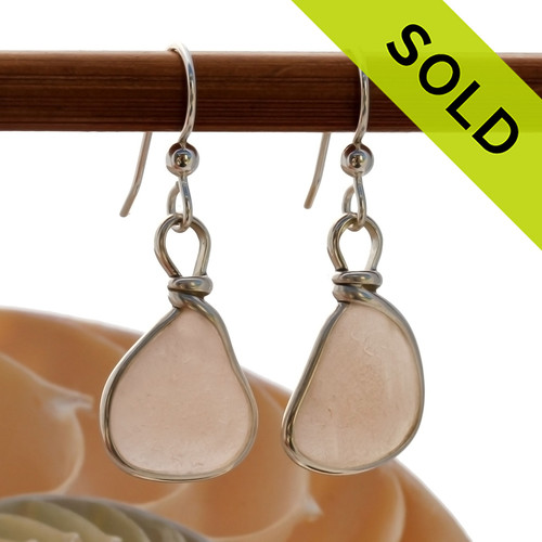 SOLD - Sorry these Ultra Rare Sea Glass Earrings are NO LONGER AVAILABLE