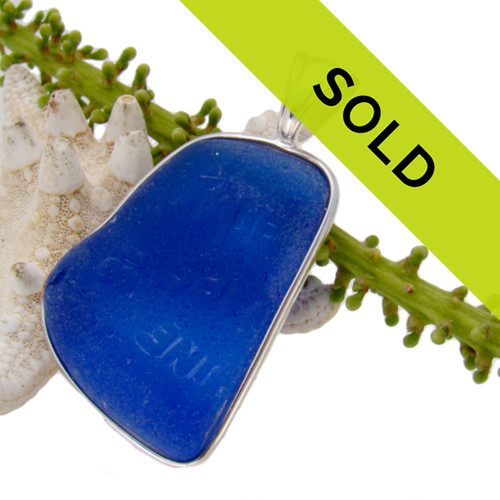 Sorry this blue sea glass pendant has been SOLD!
