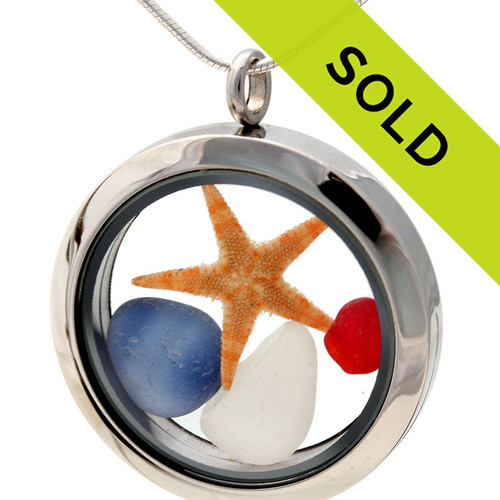 This Sea Glass Jewelry Locket has been sold!