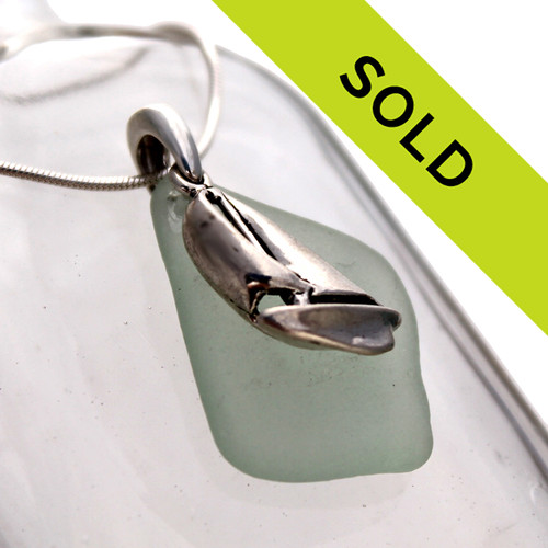 Sorry this seafoam green sea glass necklace has been sold!