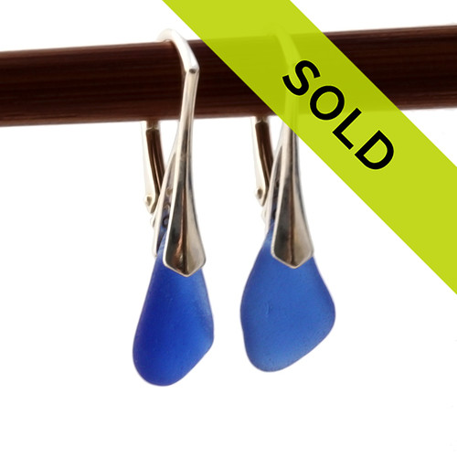 Sorry these blue sea glass earrings have been sold!