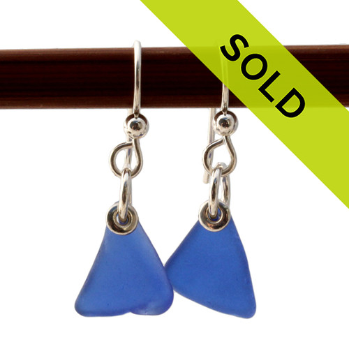 Natural sea glass pieces shape by time and tide and set in sterling silver. Petite Blue Simply Sea Glass On Silver Earrings Sorry this sea glass jewelry selection has been sold!