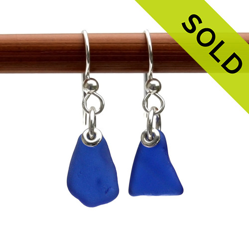 Natural sea glass pieces shape by time and tide and set in sterling silver. Petite Blue Simply Sea Glass On Silver Earrings, Sorry these Se Glass Earrings have been SOLD!