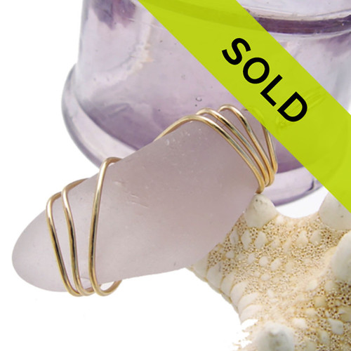Sorry this lavender or purple sea glass pendant has been sold!