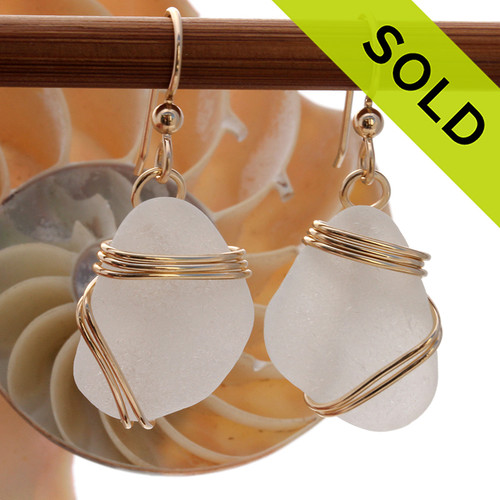 Sorry these sea glass earrings have been SOLD!
