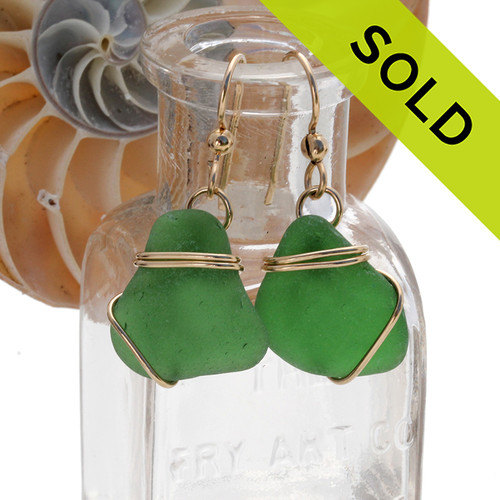 SOLD - These Sea Glass Earrings are NO LONGER AVAILABLE!