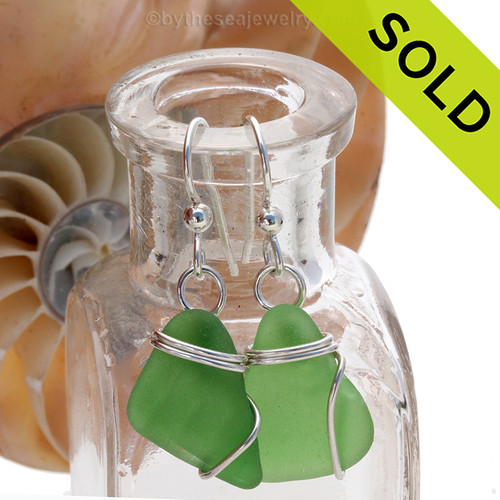 Sorry these green Sea Glass Earrings have been SOLD!