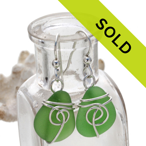 Sorry this green sea glass jewelry earring selection has been sold!