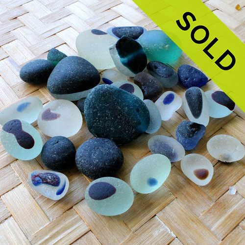 LARGE Lot of Multi English Sea Glass Pieces -  LOT 1628