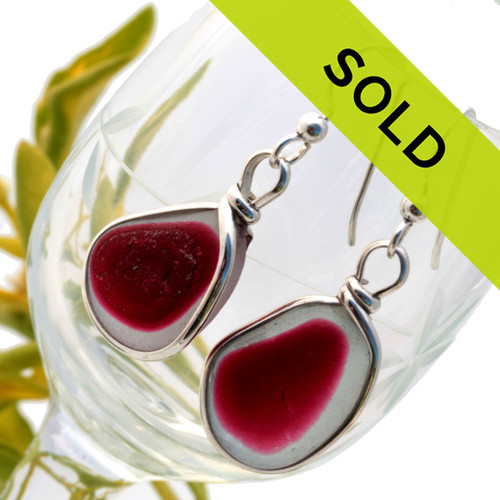 Sorry this once in a lifetime pair of sea glass earrings have sold!
