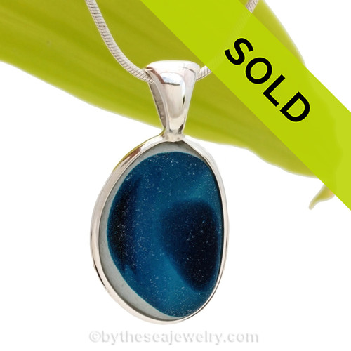 This is a LARGE Ultra Rare Seaham sea glass multi color pendant is set in our Deluxe Wire Bezel© pendant setting. Sorry this sea glass jewelry selection has been sold!