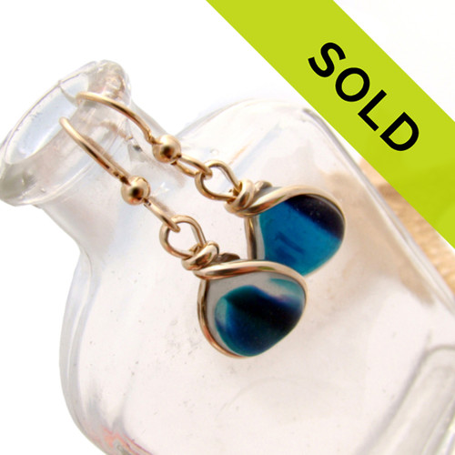 Sorry - these Ultra Rare sea glass earrings have been sold.
