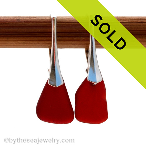 Sorry these rare sea glass earrings have been sold!~