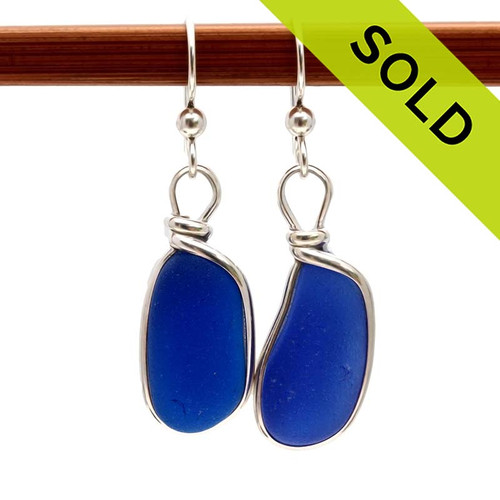 This is the EXACT pair of sea glass earrings you will receive! TOP QUALITY!!  SORRY - this Sea Glass Jewelry Selection has been SOLD!