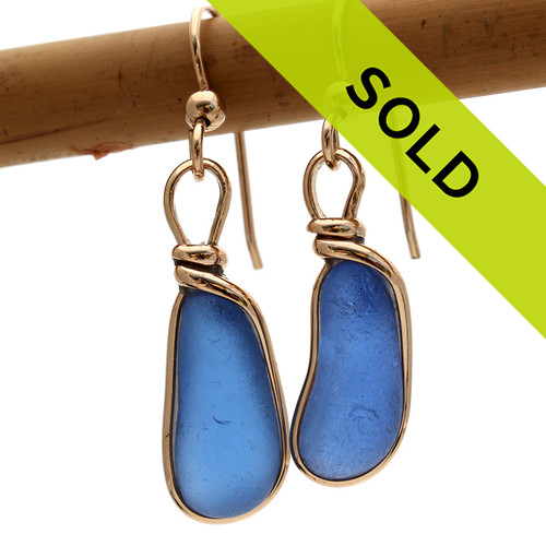 Bright blue sea glass pieces let just the way they were found at the beach. It can takes HUNDREDS and HUNDREDS of pieces of natural blue sea glass to match for a pair of perfect earrings.