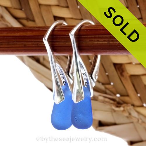 Simple and elegant these blue sea glass earrings are bound to get you compliments! Sorry, this Sea Glass Jewelry item has been sold!