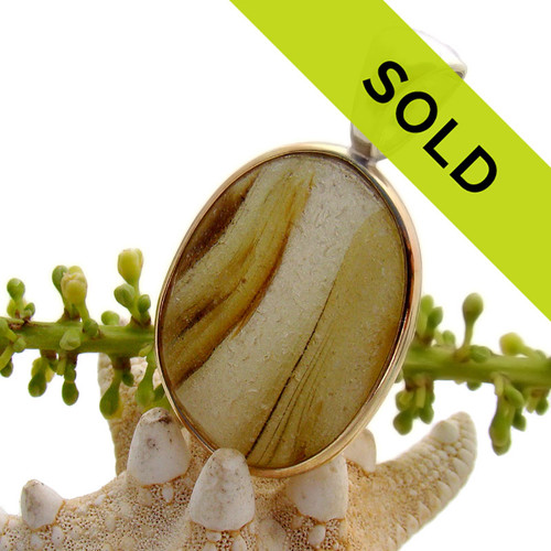 This ultra rare sea glass pendant from Seaham England has been sold!