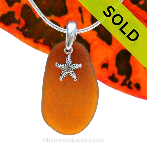 A simple sea inspired genuine sea glass necklace in Solid Sterling Silver. Sorry this Sea Glass Jewelry selection is NO LONGER AVAILABLE!