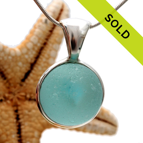 Sorry this aqua sea glass marble has sold!