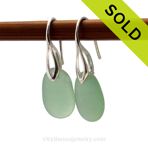 This is the EXACT pair of Sea Glass Earrings you will receive! Sorry this Sea Glass Jewelry selection is NO LONGER AVAILABLE!