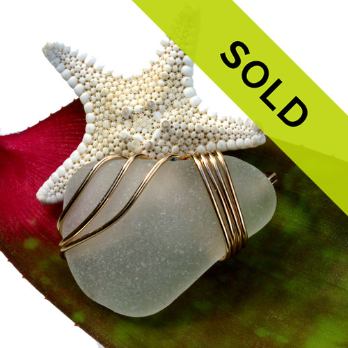 This sea glass necklace pendant has sold!