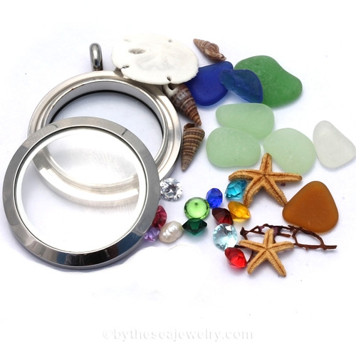 How To Design a Custom Sea Glass Locket JUST FOR YOU! Made by us to your specifications.....