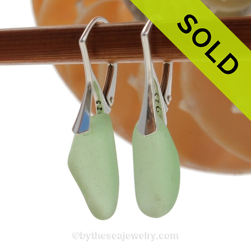 SOLD - Sorry these Rare Sea Glass Earrings are NO LONGER AVAILABLE