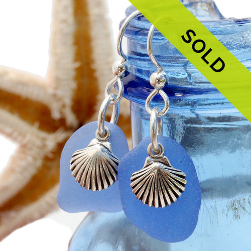 Sea Charmed - Medium Carolina Blue Sea Glass Sea Glass With Shells