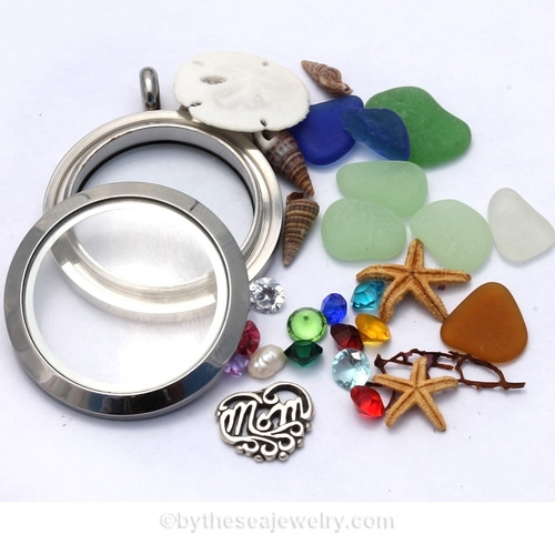 How To Design a Custom Sea Glass Locket Just for Mom! Made by us to your specifications.....