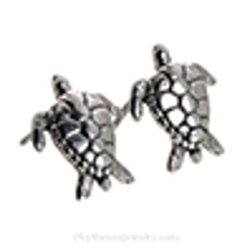 Choose a pair of matching Sterling Turtle Post Earrings