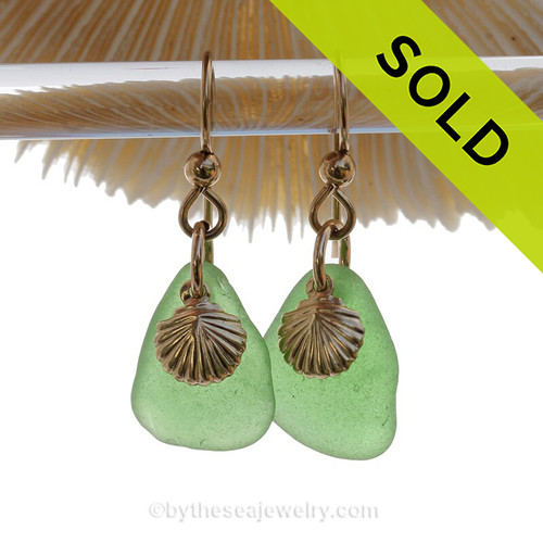 A great pair of Sea Glass Earrings for any beach lover!