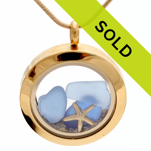 Sorry this blue sea glass locket has SOLD!