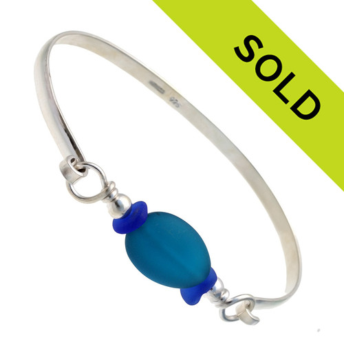 Sorry this blue sea glass bracelet with teal bead has sold!